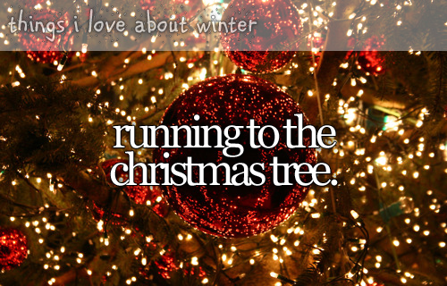 Running to the Christmas tree