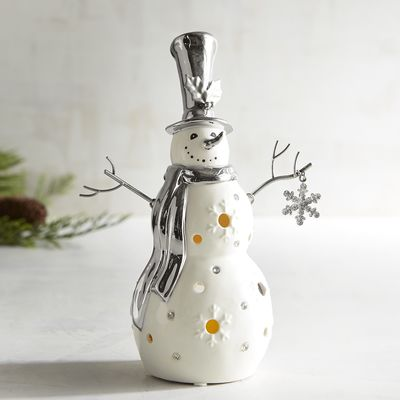 Silver and White Snowman